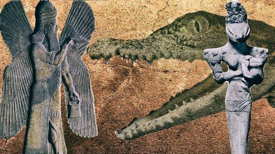 Sumerios: precursores de extrañas estatuillas reptil