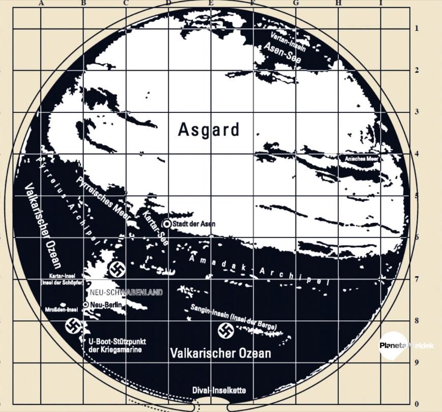 Mapa secreto de la Antártida revela la ruta para llegar a la Tierra Hueca