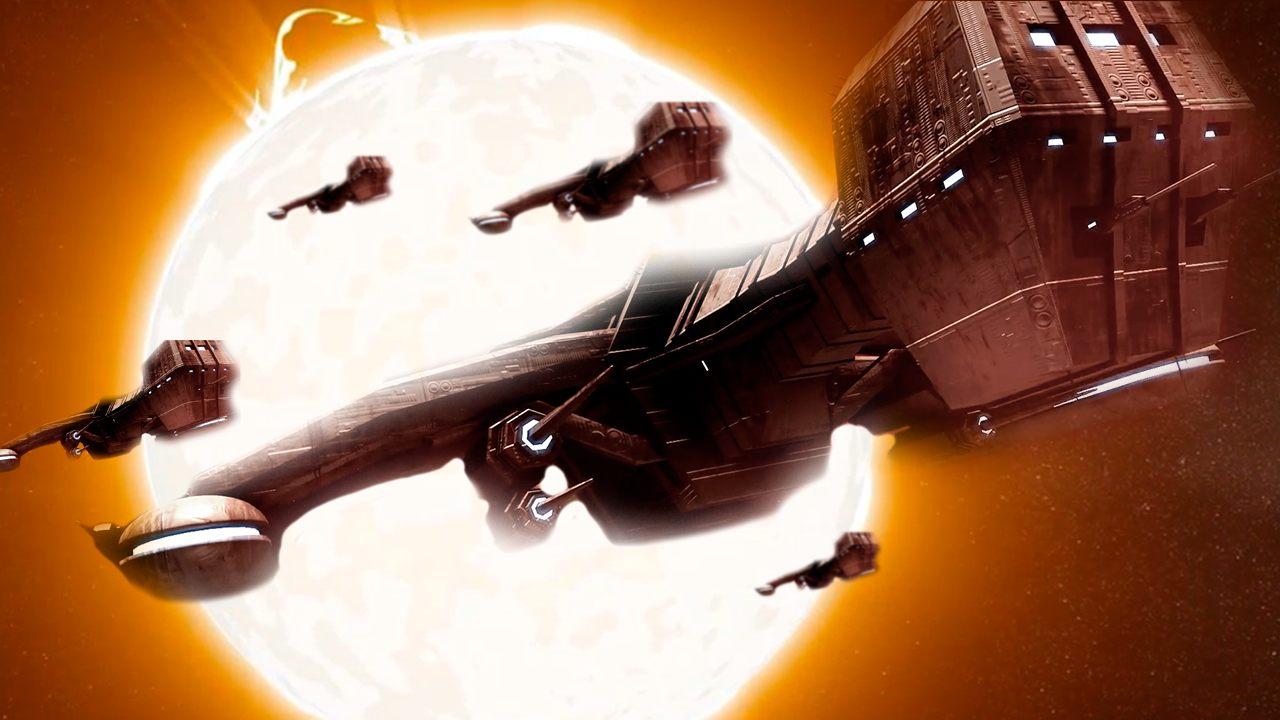 Captan una nave espacial disparando un rayo láser cerca del Sol
