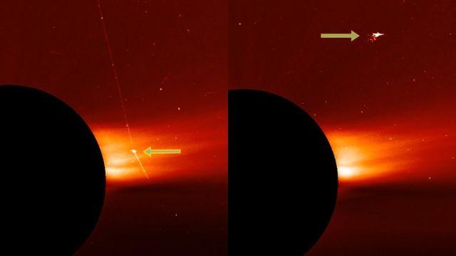 """Captan una """"nave extraterrestre"""" disparando un rayo láser cerca del Sol"""