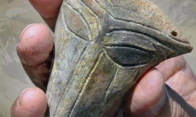 ¿El retrato de un alienígena? Alienígena hallan en Bulgaria un retrato inusual