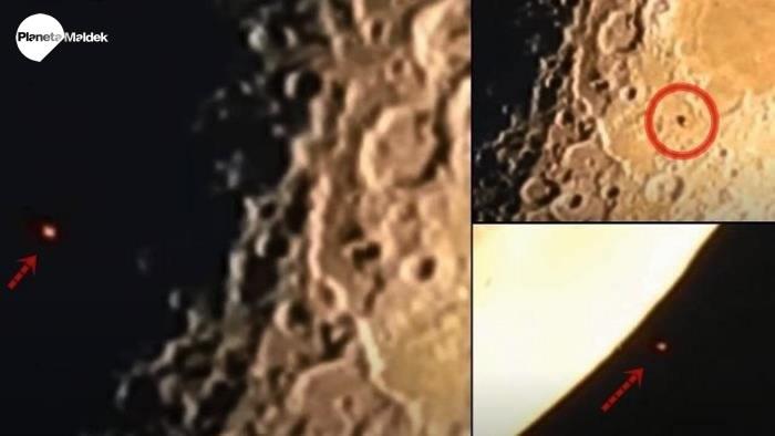 Enorme OVNI vuela cerca de la Luna