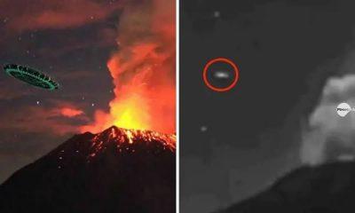 Enorme OVNI de 30 metros vuela hacia el volcán Popocatépetl en México