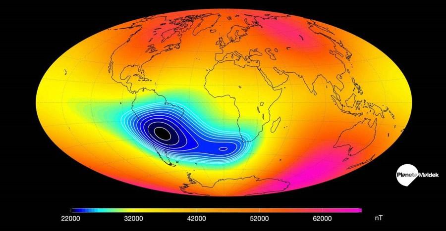 Anomalía magnética del Atlántico Sur