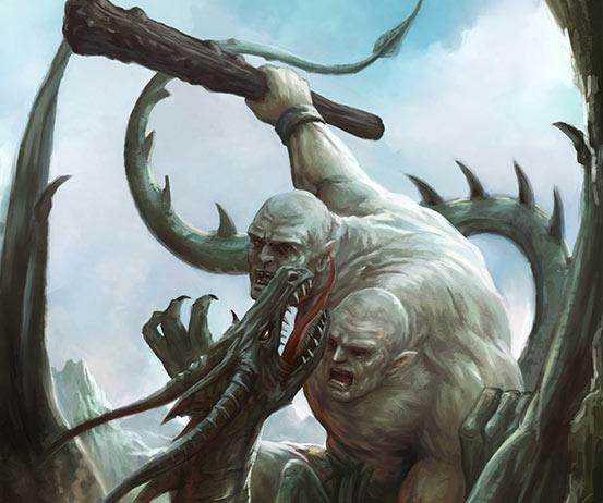 Ettin, un gigante de dos cabezas y que devoraba hombres, según la mitología