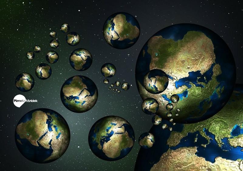 La teoría del multiverso propone un número infinito de universos, algunos muy similares al nuestro, otros muy diferentes.