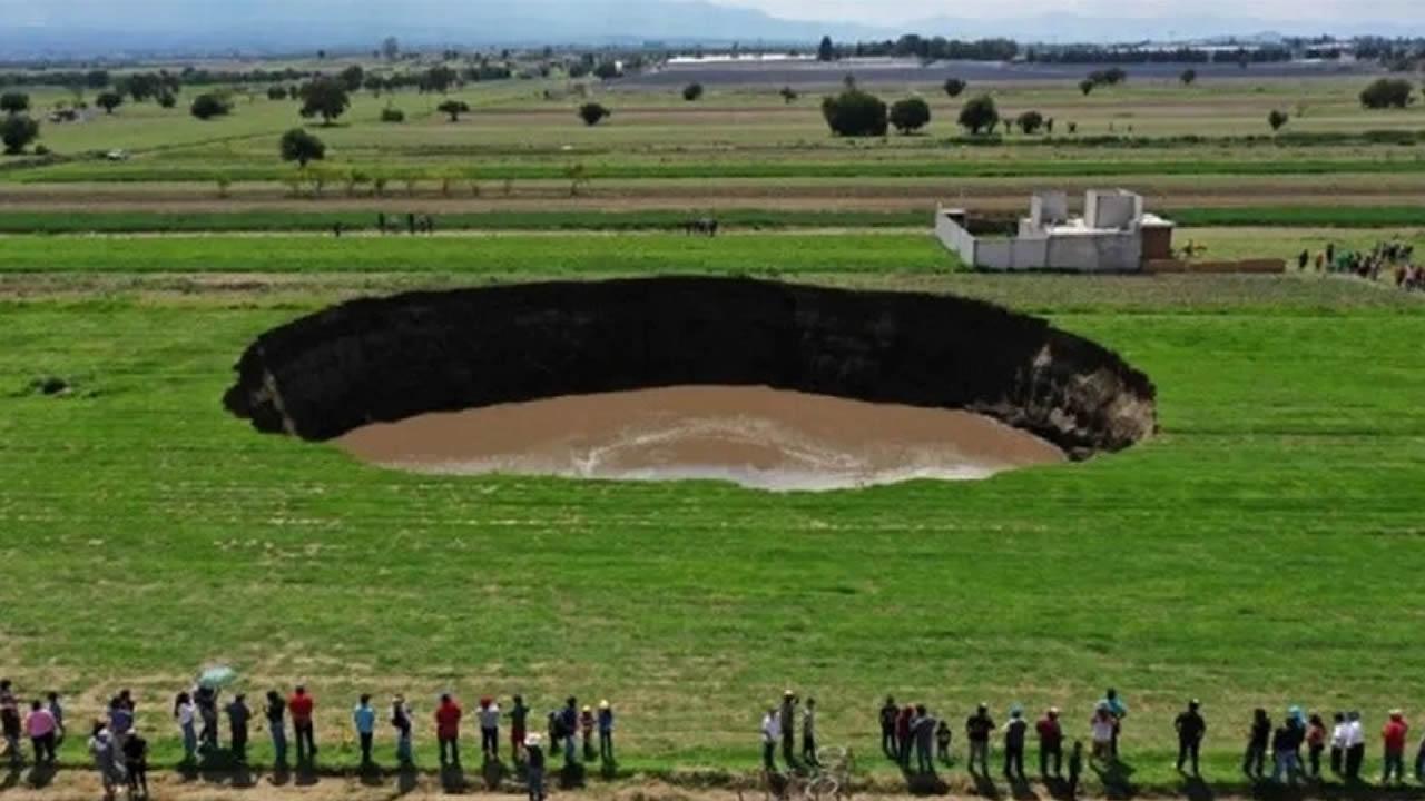 ENORME agujero se formó en México y sigue creciendo cada día