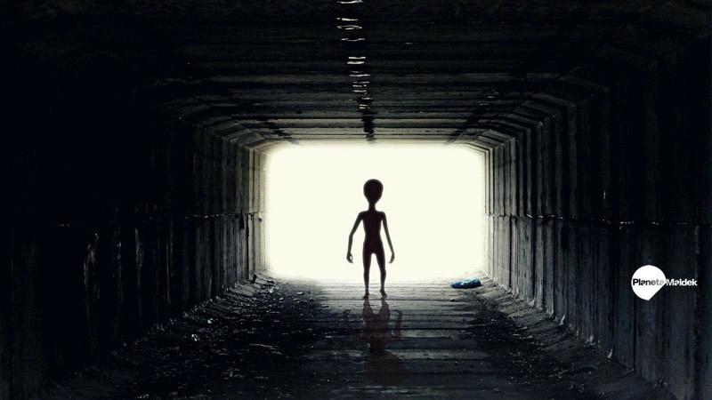 Representación de un extraterrestre gris