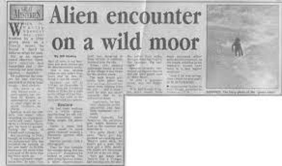 Recorte periodístico informa sobre el encuentro cercano de Philip Spencer