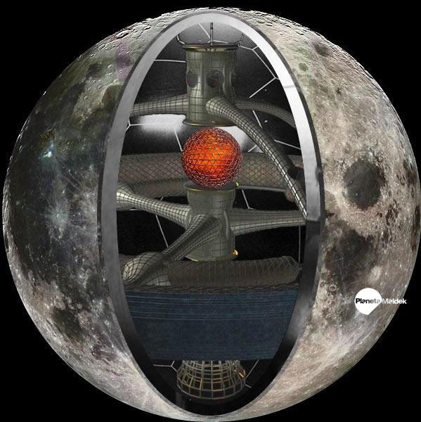 Luna, una nave espacial
