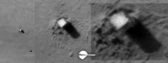 Otra vista del monolito de Fobos, luna de Marte