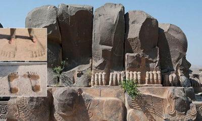 Enormes huellas de pies en las Ruinas del Templo de Ain Dara ¿Gigantes en el remoto pasado?