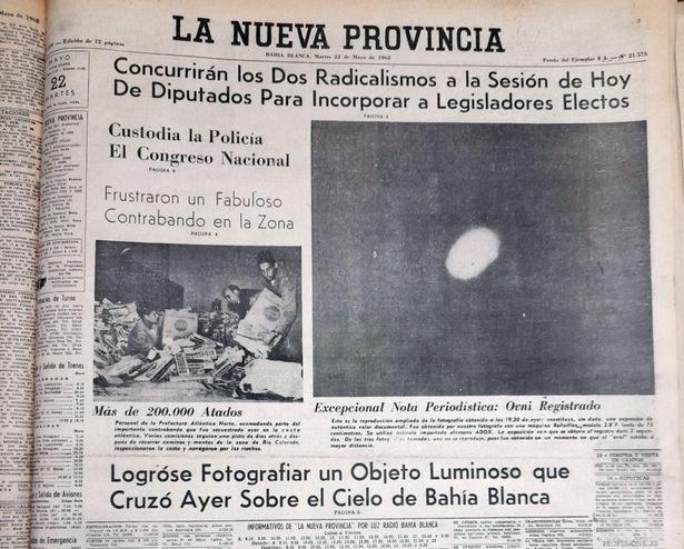 """Un informe de noticias locales argentinas sobre el impactante informe OVNI, que según los """"nuevos documentos"""" estaba siendo investigado por la CIA"""