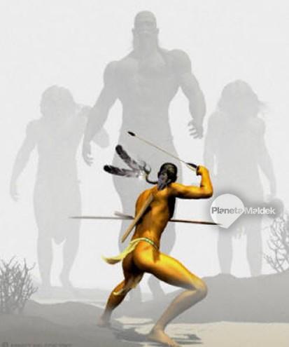 Los Pauite se enfrentaron a los gigantes pelirrojois