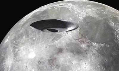 Video capta un OVNI gigante volando sobre la superficie de la Luna